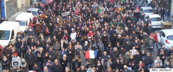 charlie hebdo demonstrations in marseille