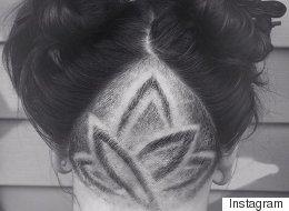 #hairtattoos Lorsque les cheveux deviennent des tatouages secrets (PHOTOS)