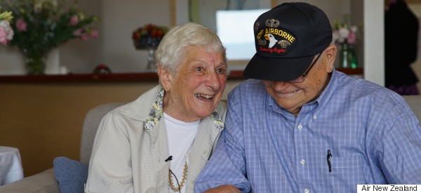Watch The Heartwarming Moment WWII Beaus Are Reunited After 70 Years