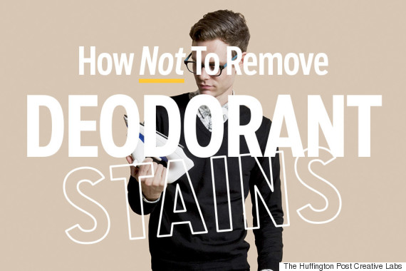how not to remove deodorant stains