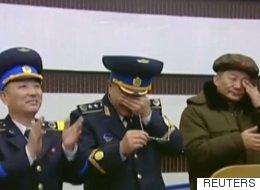 Hardened North Korean Generals Weep Over Rocket Launch