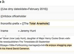 Everyone Is Vandalising Jeremy Hunt's Wikipedia Page And It's Hilarious