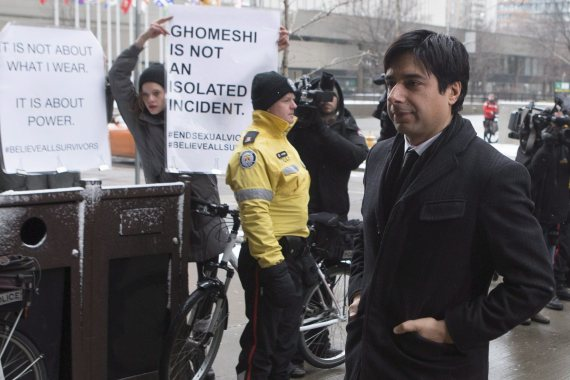 jian ghomeshi trial protesters