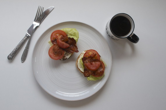 english muffin blt