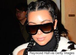 Kim Kardashian Debuts Platinum Blond Hair At Yeezy Season 3