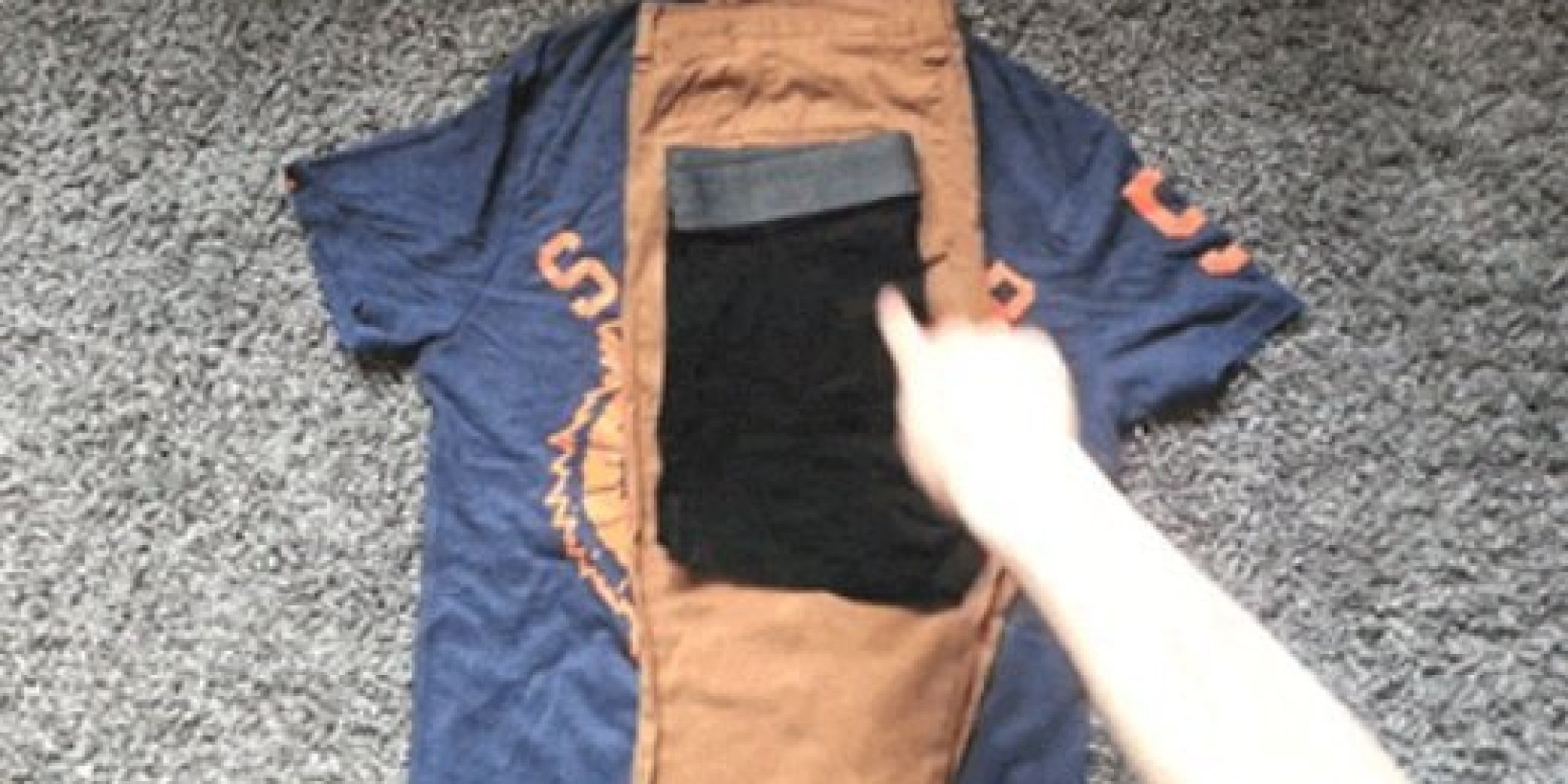 Vid o une astuce g niale pour ranger ses habits d 39 une journ e dans une p - Comment ranger ses habits ...