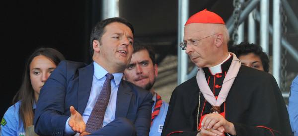 Unioni civili, Renzi e Grasso difendono le istituzioni da Bagnasco