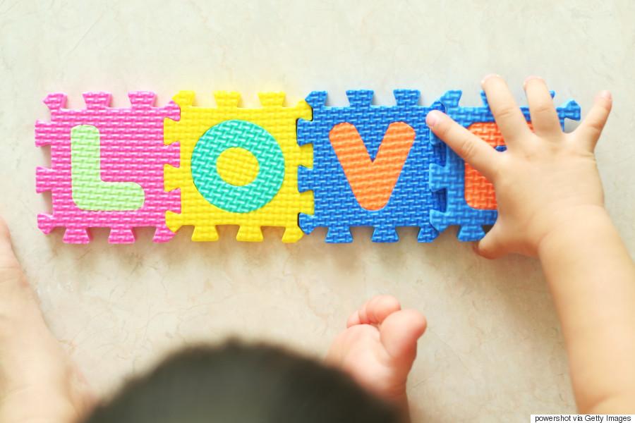 toddler love word