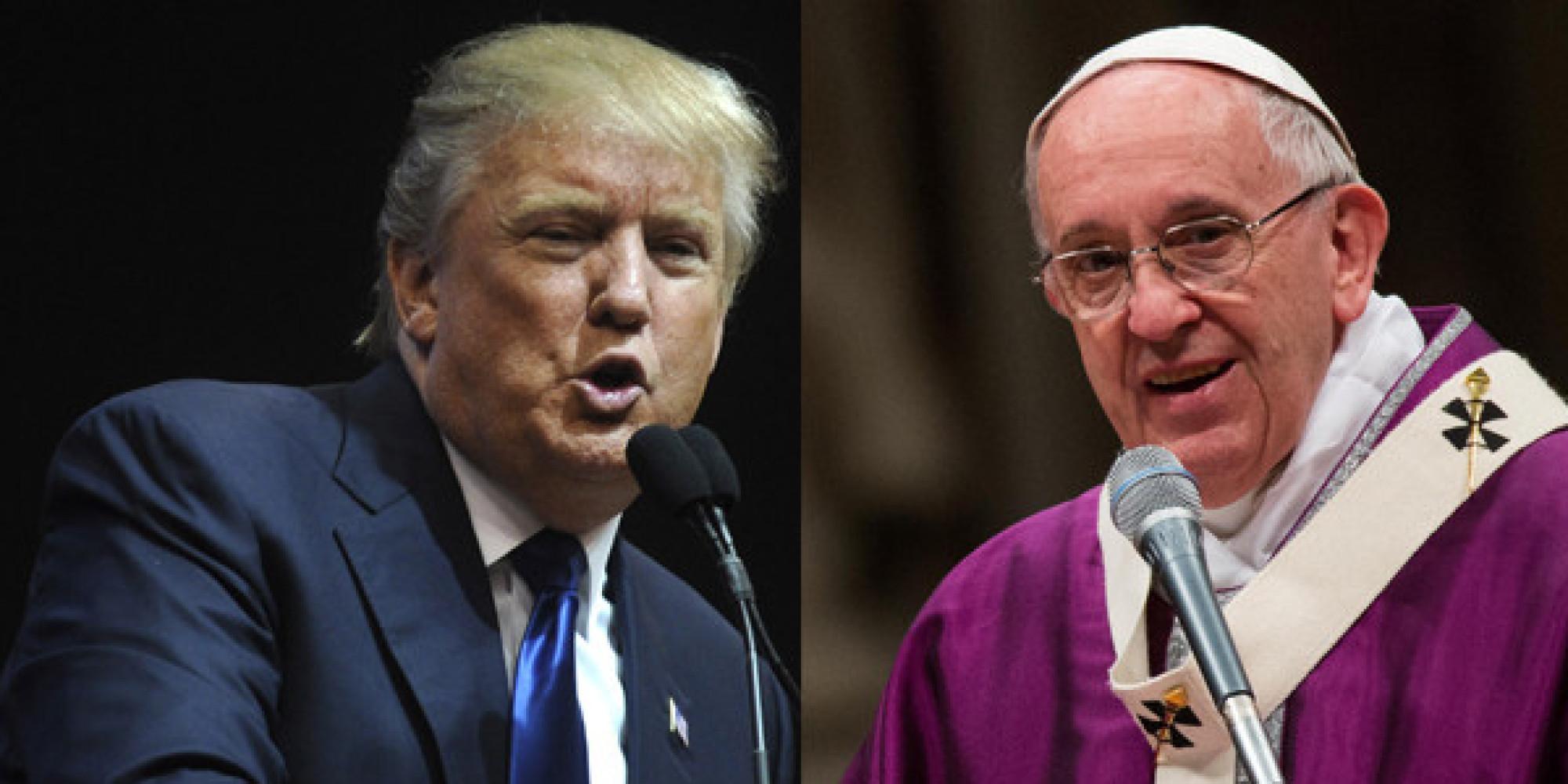 Risultati immagini per Papa Francesco TRUMP