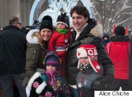 Le passage de la famille Trudeau en PHOTOS au Carnaval de Québec