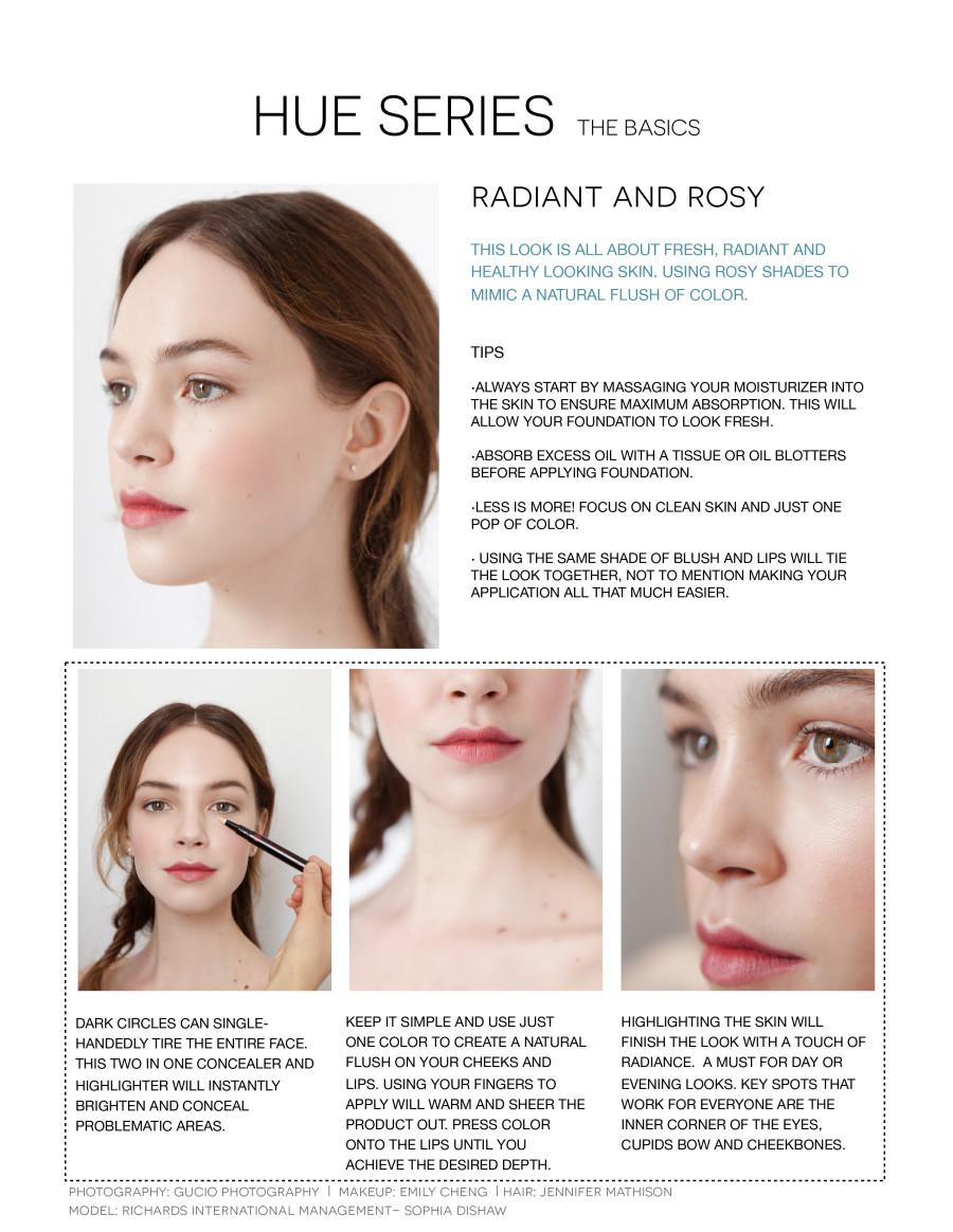 radiant rosy makeup tutorial hue series
