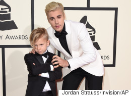 Justin Bieber's Unbelievably Cute Brother Jaxon Steals The Show At The Grammys