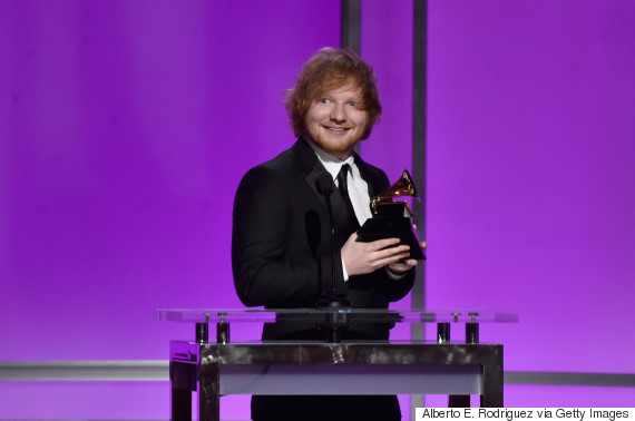 Grammy Awards 2016: Ed Sheeran's 'Thinking Out Loud' Wins