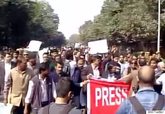journalists march delhi