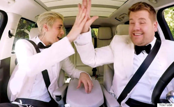justin bieber james corden carpool karaoke