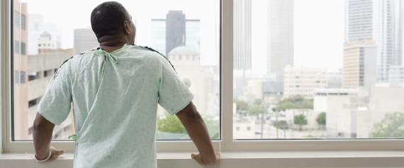 BLACK PATIENT HOSPITAL GOWN