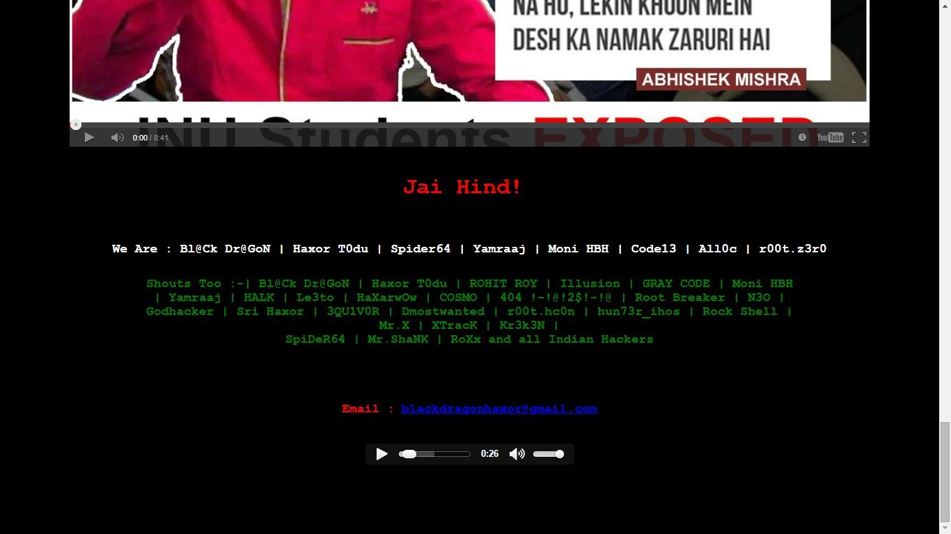 jnu hacked1