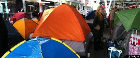 Twilight Fans Camp Out