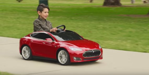 tesla kids car