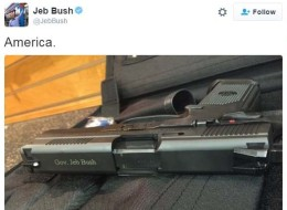 People Are Ripping Jeb Bush A New One For His Gun Tweet