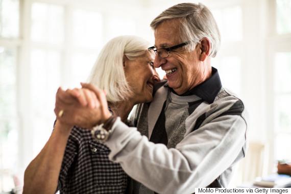 old man happy