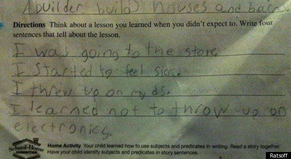 Funny Test Answer: One Kid Learns An Important Life Lesson (PHOTO