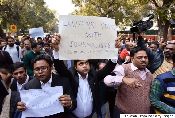 jnu lawyer protest