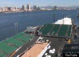 Uss carl vinson s flight deck transforms into basketball court video