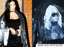 Kim Kardashian Wore A Jacket Covered In Pictures Of Her Own Face