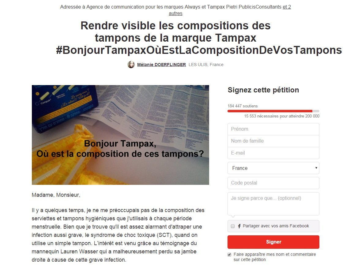 compositions tampons
