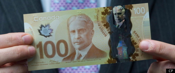 CANADA PLASTIC MONEY 100 BILL