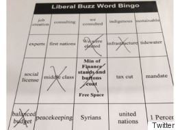 Alberta MP's 'Liberal Buzz Word Bingo' Game Backfires