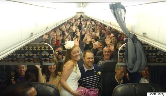 wedding on flight