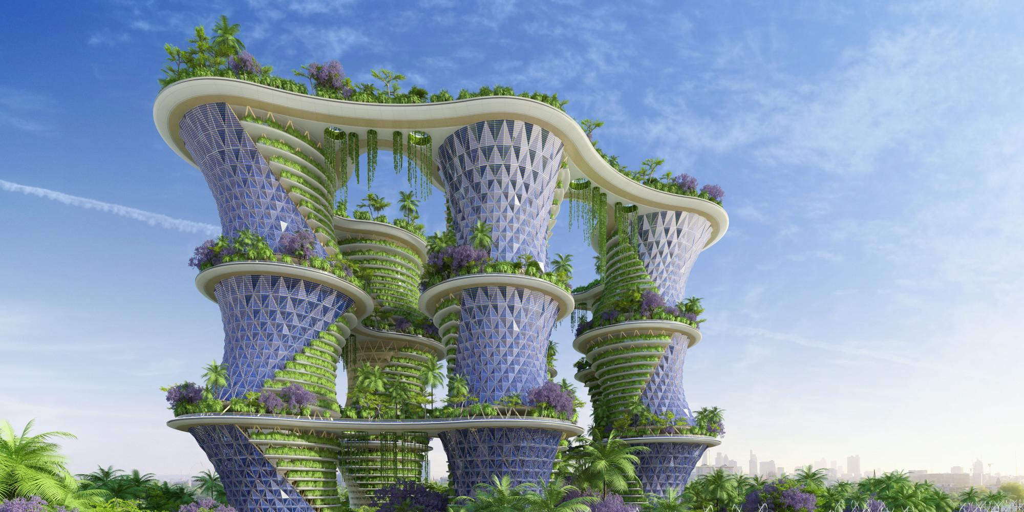 Photos hyp rions un projet d 39 immeuble agritectural du for Architecture du futur