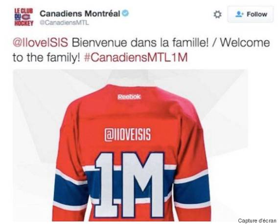 tweet canadiens