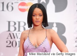 Rihanna Slays In Barely-There Dress At 2016 Brit Awards