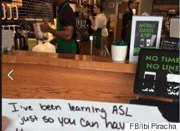 청각장애인 손님을 위해 이 스타벅스 직원이 수화를 배운 이유