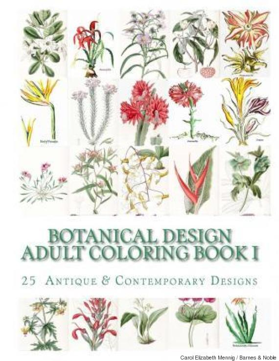 botanical design - Botany Coloring Book