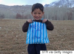 Boy Who Wore Bag Jersey Forced To Leave Afghanistan Over Threats