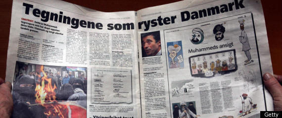 Norway Terror Trial. A picture taken 10 January 2006 in Oslo shows cartoons ...