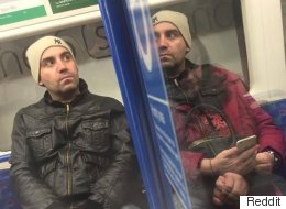 Tube Commuter 'With Man's Head' Is Baffling A Lot Of People