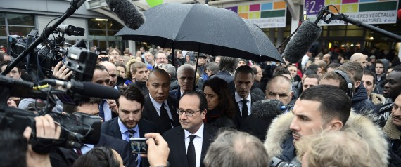 Entre terrorisme et crise sociale les politiques sur for Hollande salon agriculture