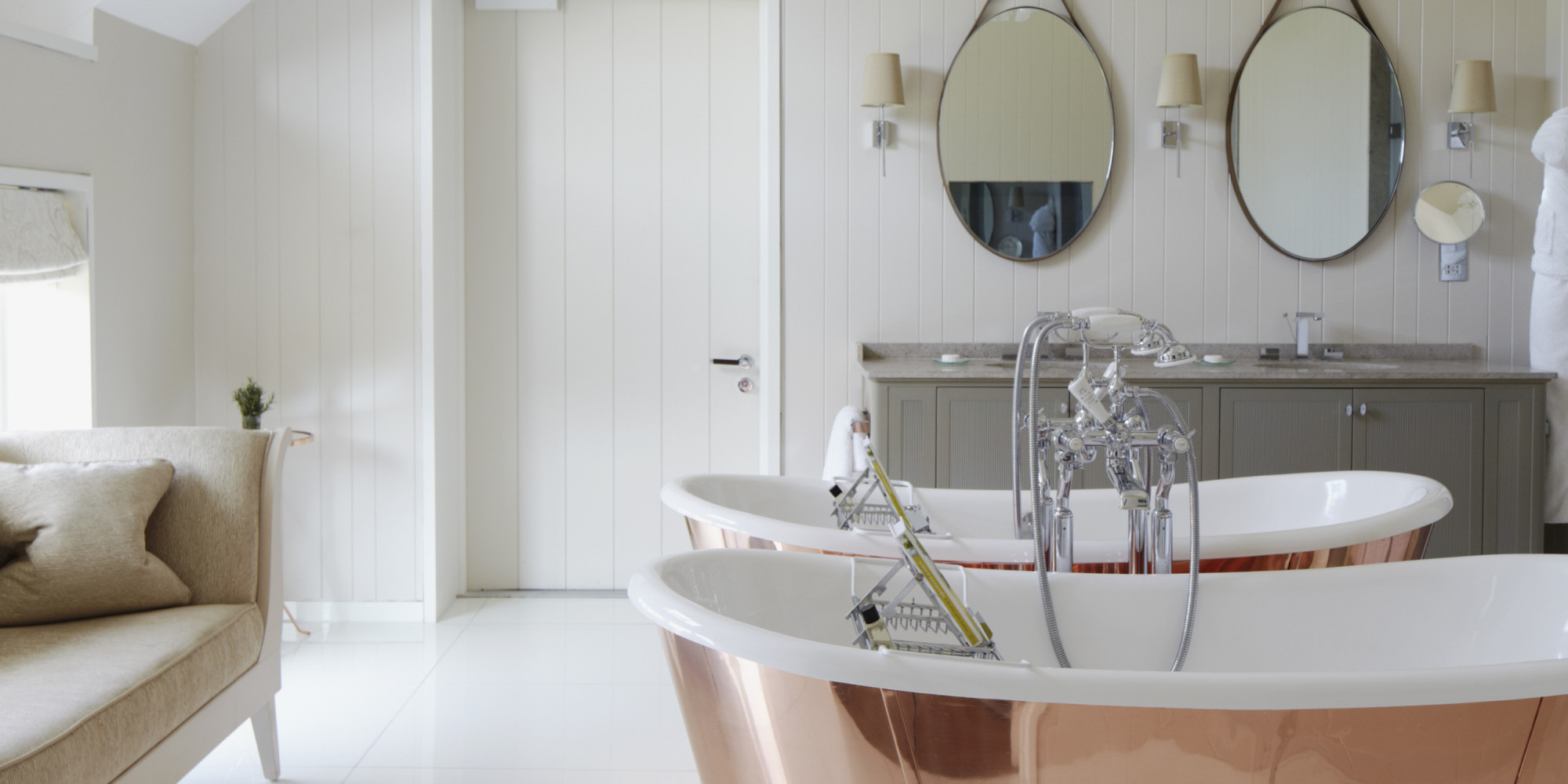 an amazing bathroom makeover that only cost  400