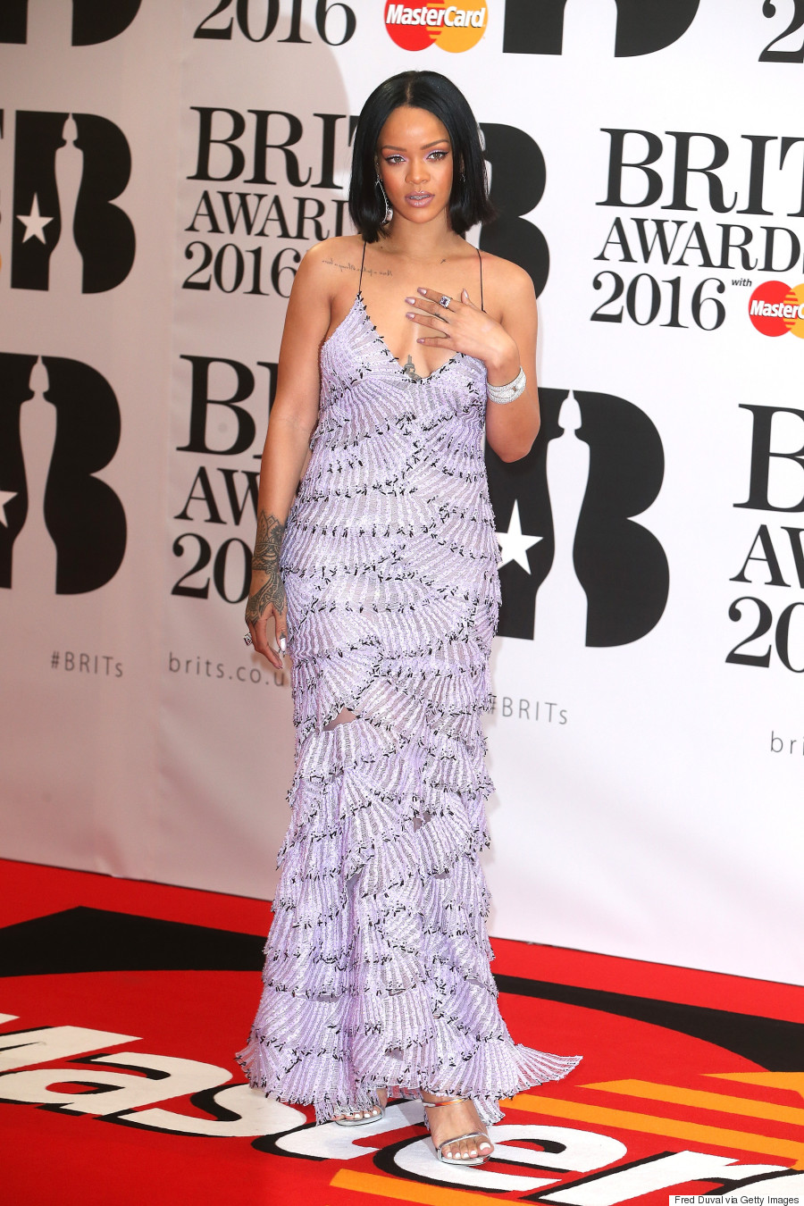 But our best dressed look of the week has to go to Rihanna, who looked ...