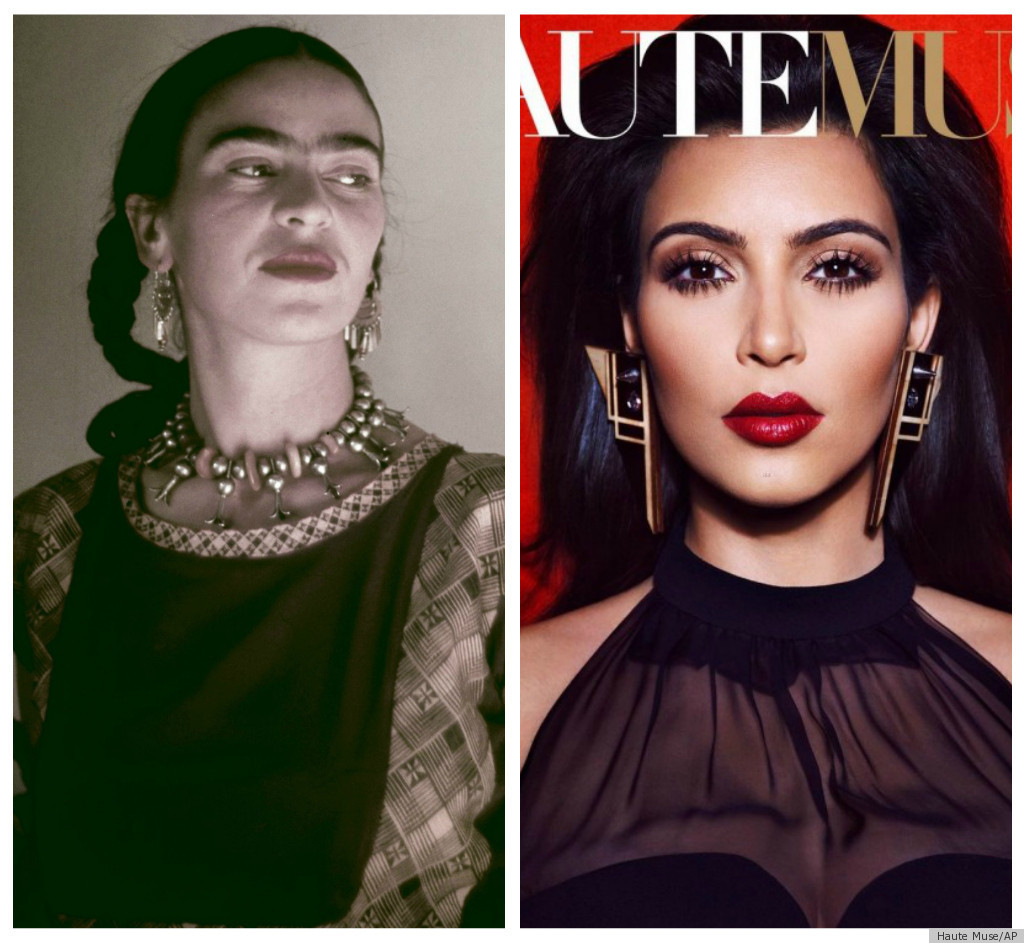Kim kardashian haute muse cover channels frida kahlo photos the