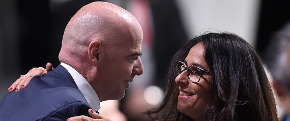 GIANNI INFANTINO AND HIS WIFE LINA