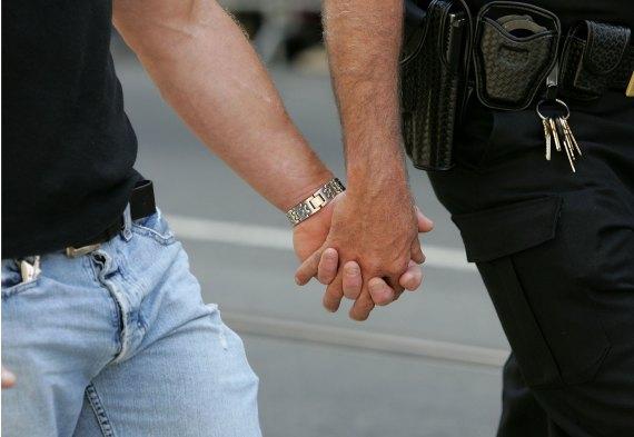 men holding hands san francisco pride