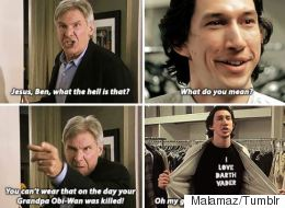 Someone Is Imagining Life In A Suburban Family Home With Kylo Ren And Han Solo