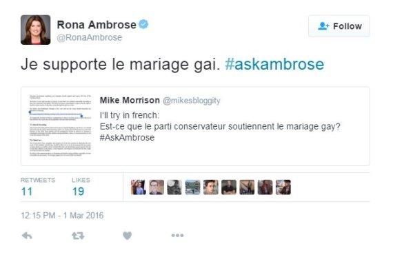 rona ambrose twitter