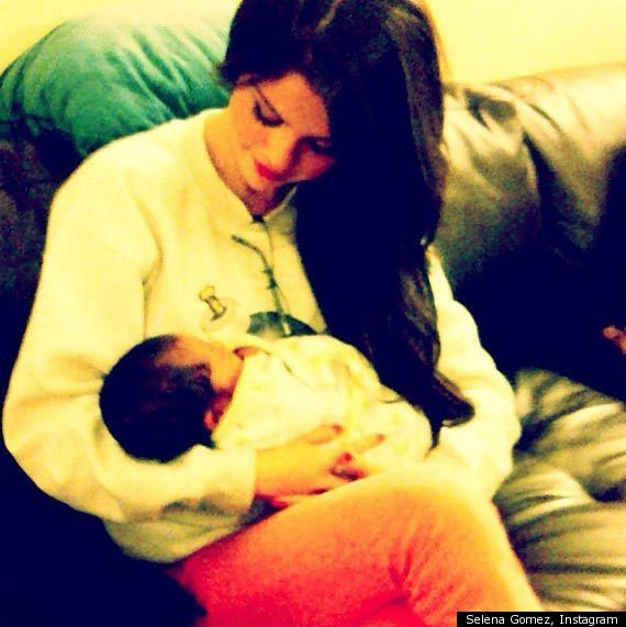 Selena Gomez Holding A Baby: Singer Tweets Photo Of Newborn (PHOTO)